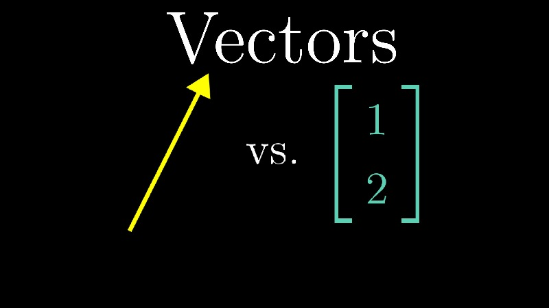 Vectors, what even are they?