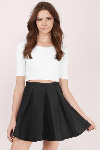 black-myah-pleated-skater-skirt