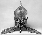Ottoman_or_Persian_-_Inscribed_Helmet_with_Neck_Guard_of_Mail_and_Nose_Guard_-_Walters_5174