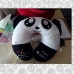 souvenir-bantal-leher-perusahaan-tour-travel-panda-hitam-putih