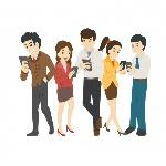homem-de-negocios-e-mulher-olhando-para-seus-telefones-vicio-social_7388-172