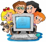 10354188-computer-with-cartoon-kids-and-dog-n7k6b4