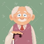 44817971-vector-grandfather-flat-illustration-Stock-Vector