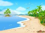 36770134-ilustración-de-una-hermosa-playa-durante-el-verano