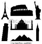 landmarks-vectores-eps_csp2556923