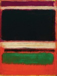 Magenta-Black-Green-on-Orange-by-Mark-Rothko