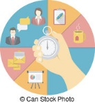 time-management-concept-conceptual-illustration-of-the-time-management-with-a-stopwatch-in-a-hand-eps-vector_csp19248746