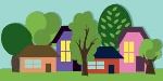 cartoon-town-houses-trees-vector-background-summer-la-landscape-44467009
