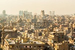 33448465-luchtfoto-van-de-stad-cairo-met-dicht-op-elkaar-gepakte-residenti-le-woningen-en-gebouwen