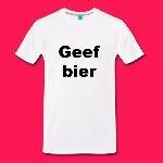 mannen-shirt-geef-bier-mannen-premium-t-shirt