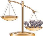 Balança desequilibrada