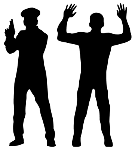 cop-minority-assault-rifle-silhouette