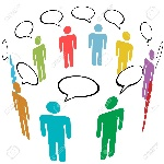 7615737-a-group-of-stick-figure-symbol-people-talk-in-social-media-speech-bubbles-