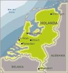 holanda, mapa