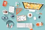 objetos-planos-del-diseño-escritorio-del-trabajo-sombra-larga-escritorio-de-oficina-comput-44988176