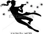 acción-mujer-tiroteo-ilustración_csp5774052