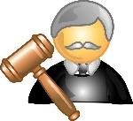 icono-o-símbolo-de-la-carrera-del-juez-4001271