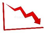 flecha-roja-de-disminución-en-la-carta-33321106