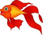 vinilos-cute-dibujos-animados-de-peces-de-oro