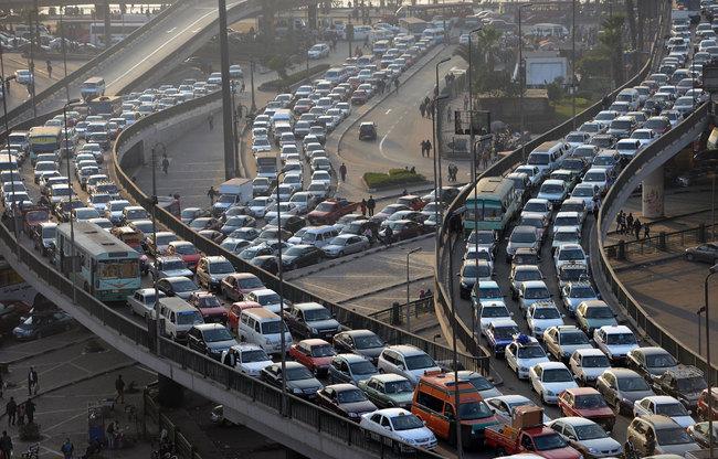 Egypt-cairo-traffic-jam