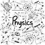 50745250-physics-science-theory-law-and-mathematical-formula-equation-doodle-handwriting-and-model-icon-in-wh