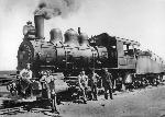 A3667 Great Northern Railroad Engine Williston ND 1912