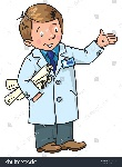 stock-vector-childrens-vector-illustration-of-funny-engineer-or-inventor-a-man-in-coat-with-drawings-showing-by-545982958