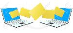 10954771-dos-ordenadores-portátiles-con-archivos-carpetas-o-documentos-de-transferencia-de-entre-uno-y-otro