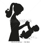 stock-vector-black-silhouette-mother-and-baby-playing-vector-illustration-mom-and-baby-isolated-on-white-455730181