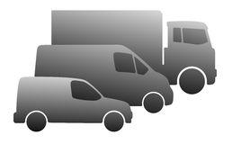 cars-simplified-vehicle-silhouettes-truck-van-car-40103386