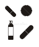 medicine-silhouette-set-contains-simple-illustrations-various-form-style-57681376