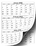2018_Calendar_Three_Months_Per_Page