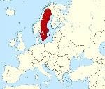 Švédsko-mapa-európy