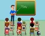 elementary-teaching-theme-teacher-pupil-icons-cartoon-design-242095