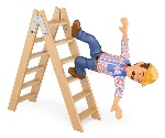 d-electrician-falling-off-ladder-work-accident-working-people-illustration-white-background-89438238
