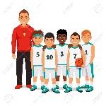 53122281-equipo-masculino-de-baloncesto-de-la-escuela-de-pie-con-su-entrenador-ilustraci-n-vectorial-de-estil-Foto-de-archivo