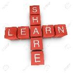 10394469-Learn-and-share-crossword-on-white-background-3D-rendered-illustration-Stock-Illustration