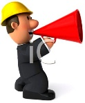 0511-1011-0520-3836_Foreman_Giving_Instructions_Through_a_Megaphone_clipart_image