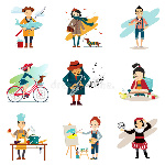 active-lifestyle-hobbies-healthy-lifestyle-icons-set-isolated-vector-illustration-55529076