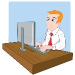 employé-de-bureau-de-dessin-animé-à-son-bureau-21447604