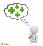 d-man-thinking-plus-signs-thought-bubble-above-his-head-over-white-background-positive-concept-30387510