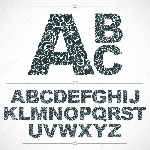 depositphotos_129069400-stock-illustration-set-of-letters-font-with