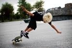 skateboard crash