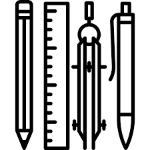 pencil and compass icon