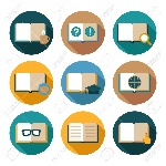 30081186-book-literature-publishing-bookstore-flat-icons-set-with-isolated-vector-illustration