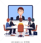 stock-vector-corporation-directors-board-at-the-conference-call-meeting-with-ceo-at-the-video-projection-screen-494343313