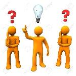 19713835-personajes-de-dibujos-animados-naranja-con-signos-de-interrogación-rojos-y-una-bombilla
