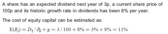 Gordon growth model example