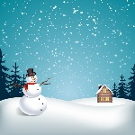 snowy-landscape-with-snowman_1053-41
