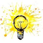 lightbulb-idea-concept-watercolor-illustration-hand-drawn-sign-splash-texture-white-background-59269186